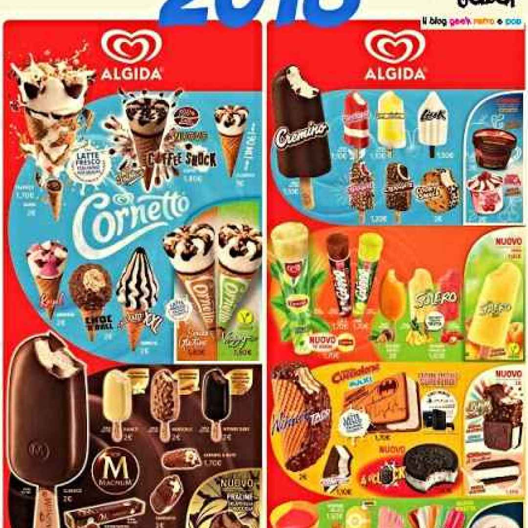 ALGIDA 2018: ecco tutti i gelati (Gelati)
