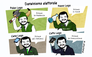 salvini  satira  lega