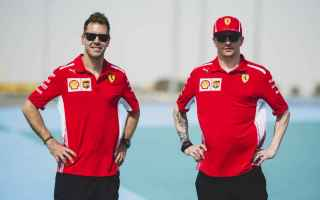 Formula 1: f1   ferrari  bahrain  vettel  raikkonen