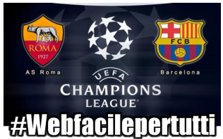 Champions League: roma barcellona streaming champions