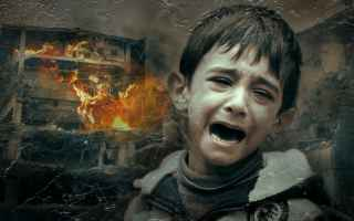 bambini pianto guerra siria orrore
