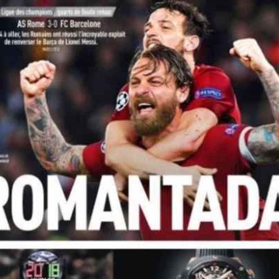 roma  barcellona  champions  calcio