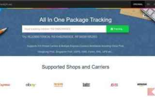 Siti Web: pacco cina traking