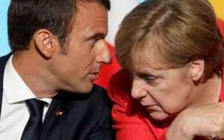 dal Mondo: macron  merkel  euro  germania  francia