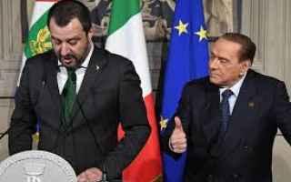 Politica: salvini  berlusconi  lega  forza italia