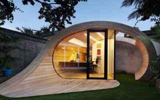 Architettura: giardino  isolamento  legno  rovere
