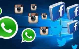 Social Network: whatsapp  instagram  twitter  facebook