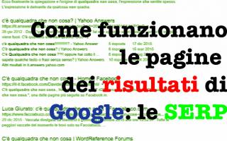 Tutto quello che c'è da sapere sui risultati di ricerca di Google è legato ad un'analisi coere