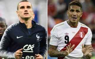 Calcio: francia perù pronostici
