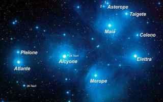orione  pleiadi  astronomia  atlante
