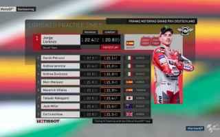 Sorpresa nelle prime due sessioni del Gran Premio di Germania, con Jorge Lorenzo che vuole tornare s