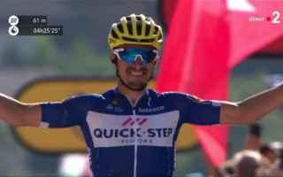 Ciclismo: TOUR DE FRANCE: FUGA VINCENTE DI ALAPHILIPPE