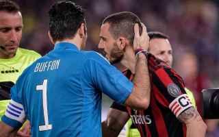Calciomercato: bonucci  milan  parigi  psg  buffon