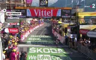 Ciclismo: TOUR DE FRANCE: THOMAS VINCE A LE GRAND-BORNARD E SI PRENDE LA MAGLIA GIALLA