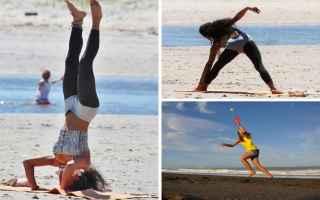 Fitness: allenamento  spiaggia  sport