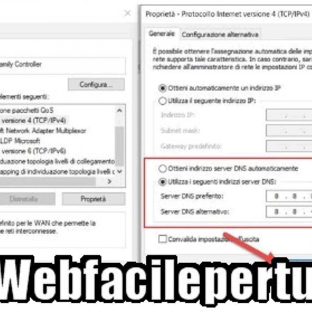 (Tutorial) Come inserire i DNS Google Per Navigare Velocemente e Senza Censure -