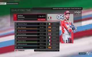 Grande Italia nelle qualifiche, del Gran Premio della Repubblica Ceca, dove Andrea Dovizioso dopo av