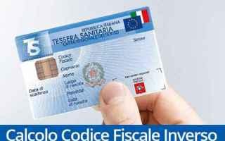 codice fiscale inverso  calcolo codice