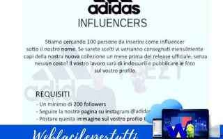 Sicurezza: bufala  adidas  follower