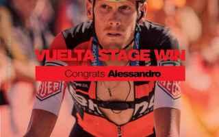 Terza vittoria italiana alla Vuelta, con Alessandro De Marchi che staccando Rastrepo, sullultima sal