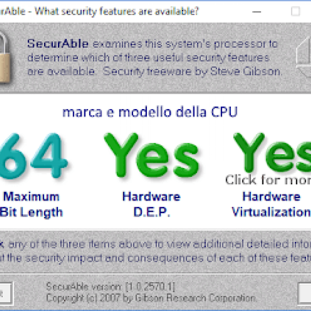 securable cpu virtualizzazione hardware