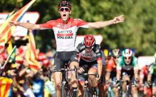 Ciclismo: VUELTA DI SPAGNA: WALLAYS BATTE BYSTROM SAGAN TERZO