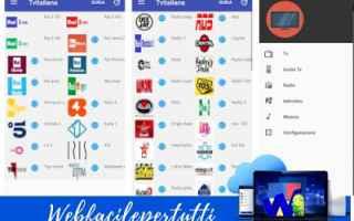Televisione: tv italiana  app  streaming  tv
