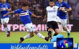 Serie A: sampdoria inter formazioni serie a