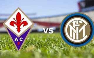 Serie A: inter  fiorentina