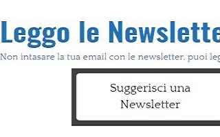 Siti Web: newsletter