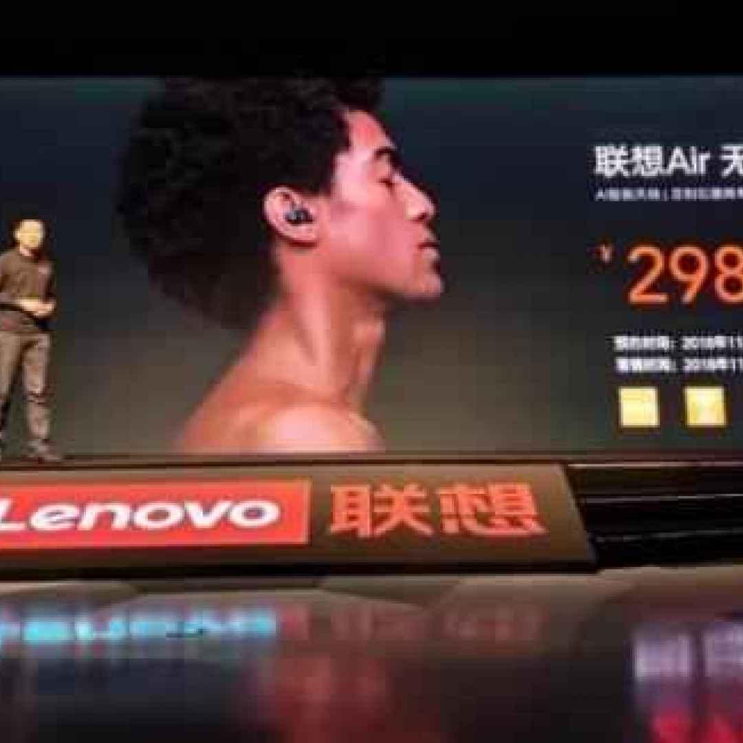 Da Lenovo le Air Wireless Bluetooth Headset, cuffie con intelligenza artificiale e antenna al grafene