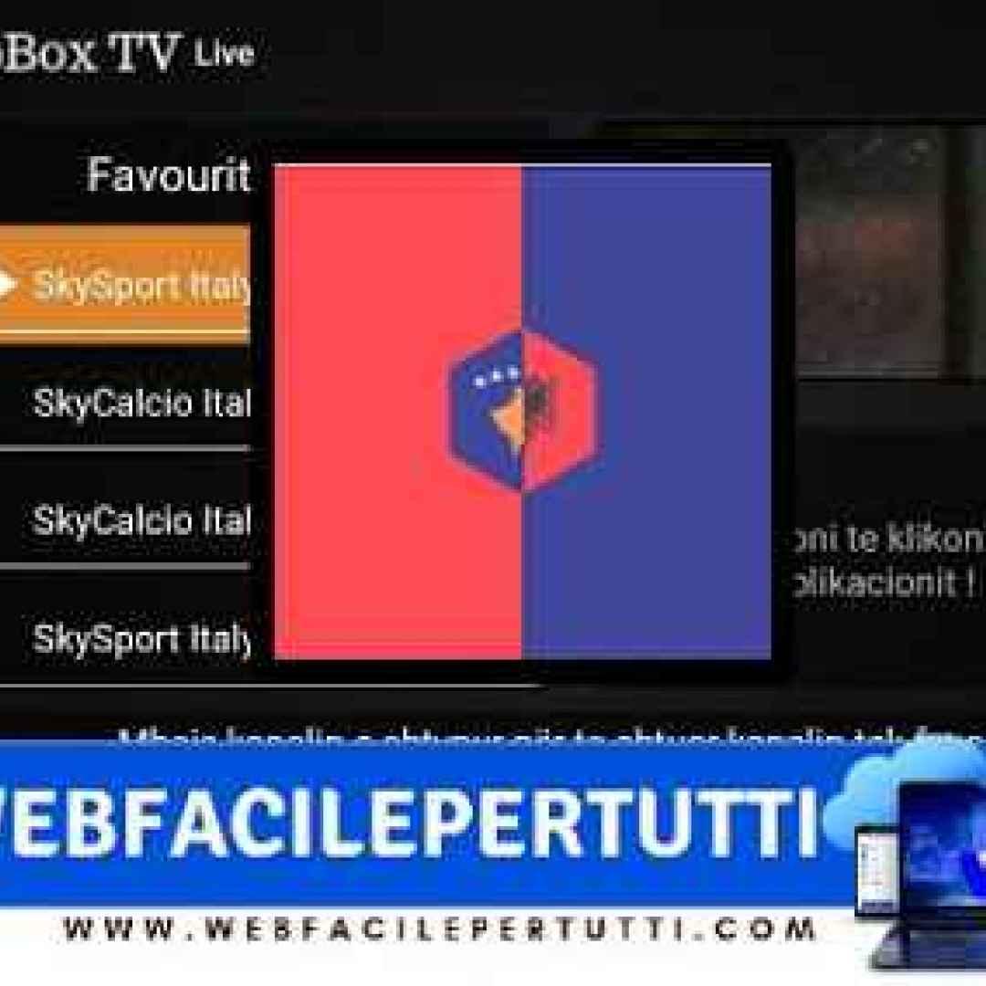 (Albbox TV) App android con canali sportivi satellitari italiani ed esteri gratis