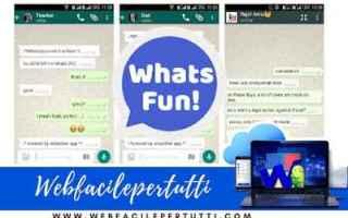 WhatsApp: whatsfun  app  conversazioni  finte