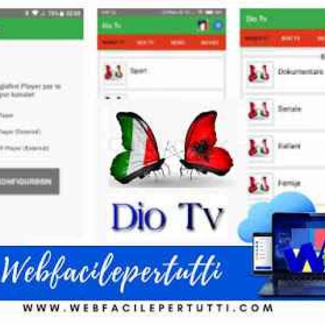(Dio Tv V1.7 Apk) Applicazione IPTV Con Canali TV Italiani