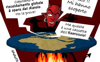 Satira: satana  sparatrap  riscladamento  global