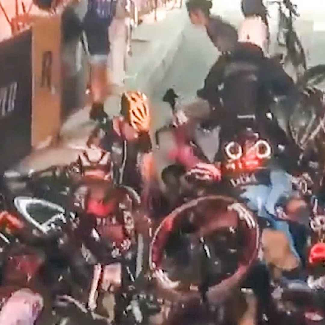 ciclismo sport incidente video new york