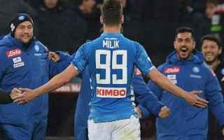 Serie A: napoli milik punizione gol video