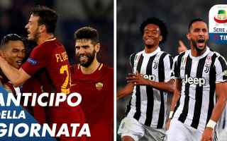 roma juventus calcio video serie a