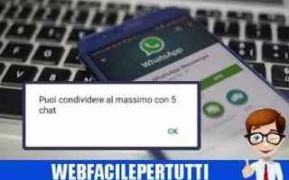 WhatsApp: whatsapp inoltro messaggi