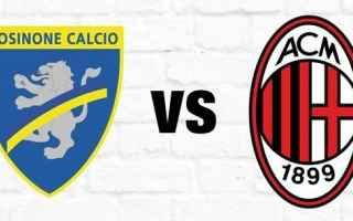 Serie A: frosinone milan video calcio highlights