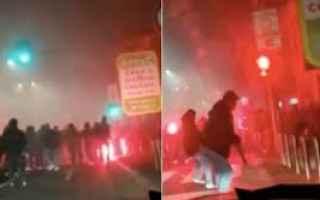 Milano: inter napoli scontri video morto