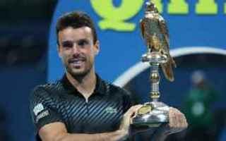 Tennis: tennis grand slam bautista agut doha
