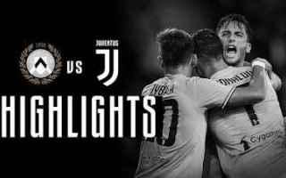 Serie A: udinese juventus video gol calcio