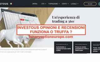 Borsa e Finanza: investous  demo gratis  broker cfd