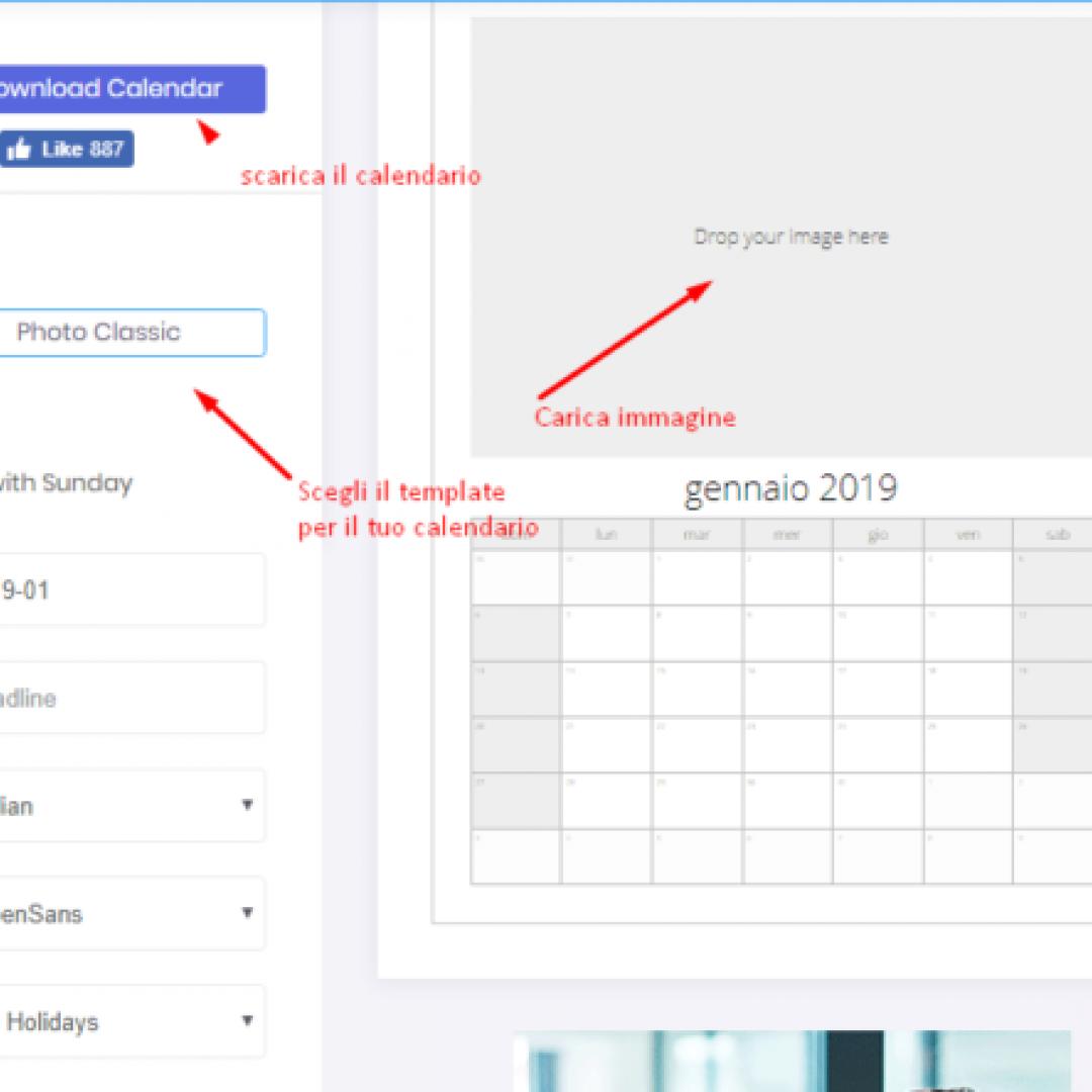 calendario  risorse gratis tutorial