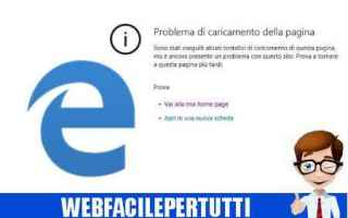 Browser: edge  browser  problema  errore  caricamento
