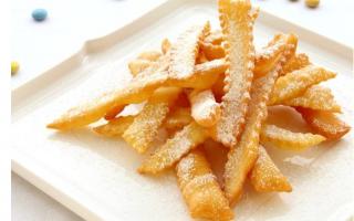 Gastronomia: carnevale festa dolci  frappe