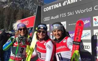 La tre giorni di Cortina, si apre subito con una sorpresa infatti Ramona Siebenhofer, sullOlimpia de