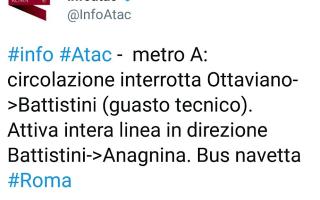 atac  roma  trasporto pubblico  metro a