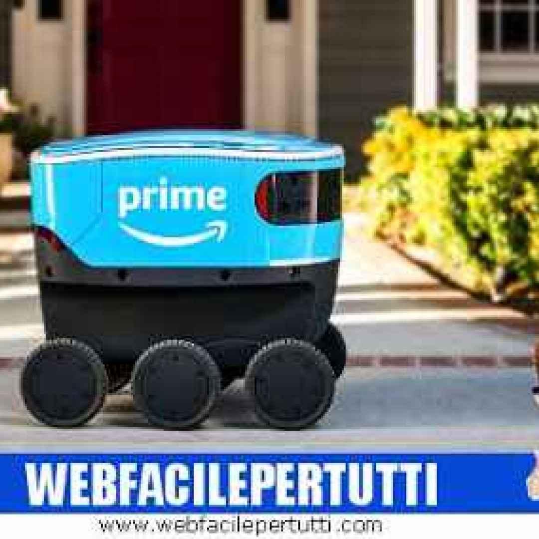 amazon scout robot corriere video